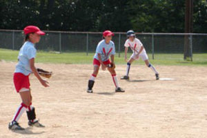 Players in the Arlington Girls Softball Association (photo via AGSA)