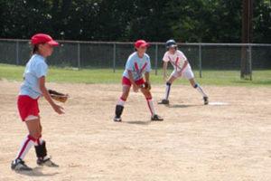 Players in the Arlington Girls Softball Association (photo via AGSA)