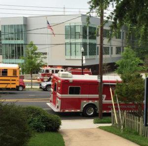 Hazmat situation at Yorktown High School (photo courtesy @KateMuth)