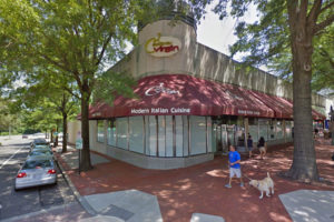 The old Extra Virgin space in Shirlington (photo via Google Maps)