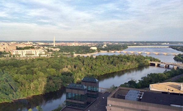 View of the Potomac and Roosevelt Island from Rosslyn