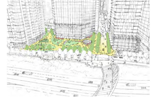A vision of the future Rosslyn Plaza park and esplanade