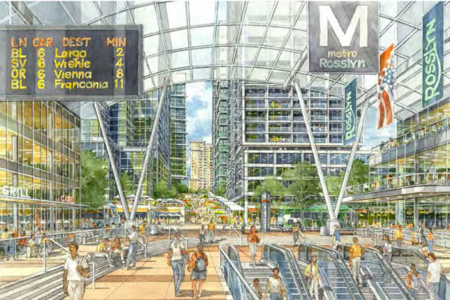 One possible image of an open-air Rosslyn Metro station