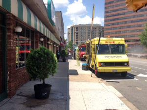 Food truck parked outside of Summers Restaurant, photo by Alan Beals