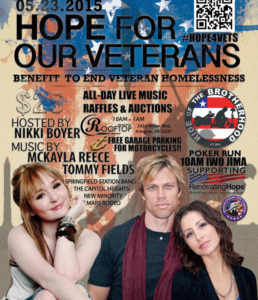 Hope For Our Veterans event poster