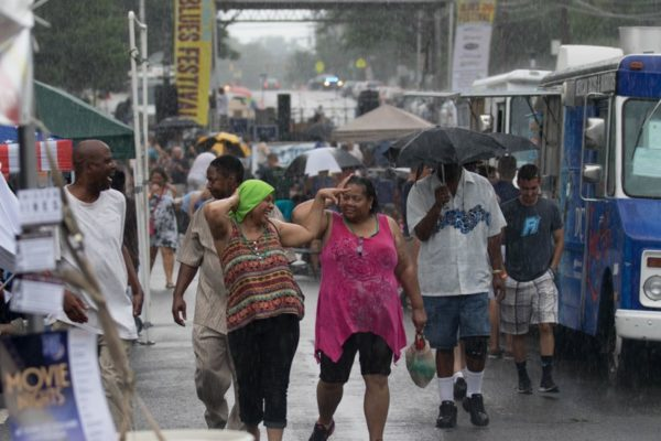 Rain soaks the Columbia Pike Blues Festival on Saturday (Flickr pool photo by Brian Irwin)