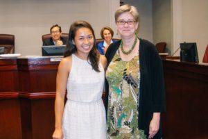 Alika Johnston and Mary Hynes (photo courtesy Lawrence Cheng)