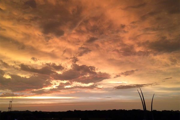 Post-storm sunset over the Air Force Memorial 6/23/15