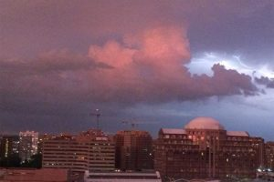 Lightning over Pentagon City