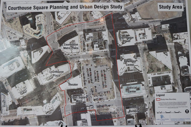 Study area of the Envision Courthouse Square Study