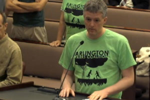Co-Chair of Arlington Parks Coalition Jim Presswood (screenshot via Arlington County)