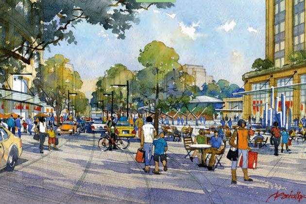 Rendering of the Metro Plaza (Courtesy of Arlington County)