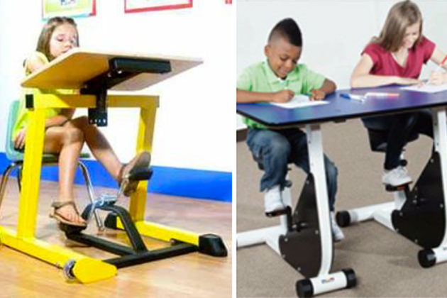 1 3 Oakridge Elementary Is Getting Desks With Bicycle Pedals