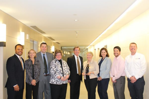 A-SPAN Board and staff accepting the 2015 Board Leadership Award