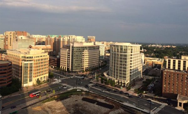 Ballston as seen from the top floor of an office building