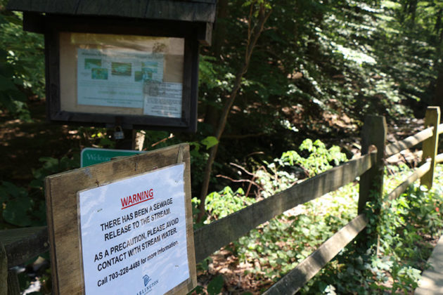 Signs are posted at different entrances of the Donaldson Run trail.