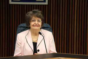 Emma Violand-Sanchez, School Board chair