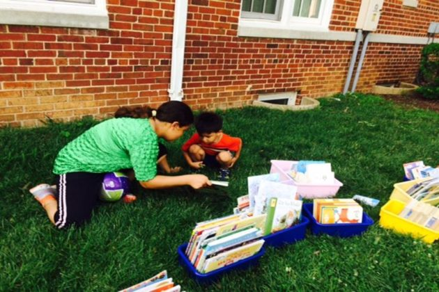 The books are donated by Books for America and Donors Choose  (courtesy photo)