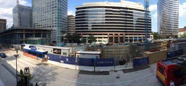Construction on the Central Place project in Rosslyn