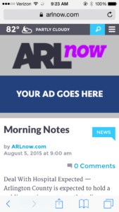 New mobile ad unit on ARLnow
