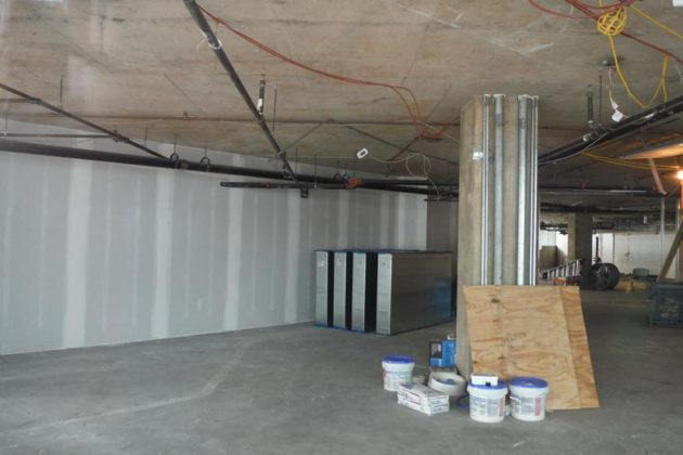 Inside of the store, under renovation.