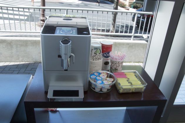 Coffee service is available for patients and family in the waiting room