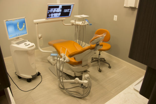A sample exam room at Ideal Dental Solutions