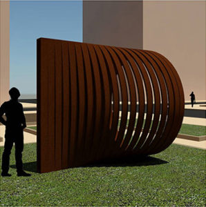 Decorative sculpture planned for Pentagon City's Metropolitan Park development (image via Arlington County)
