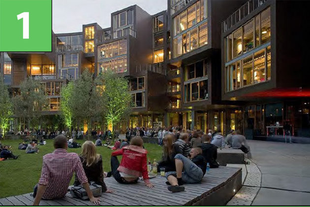 Open lawn option for central space (via Arlington County)