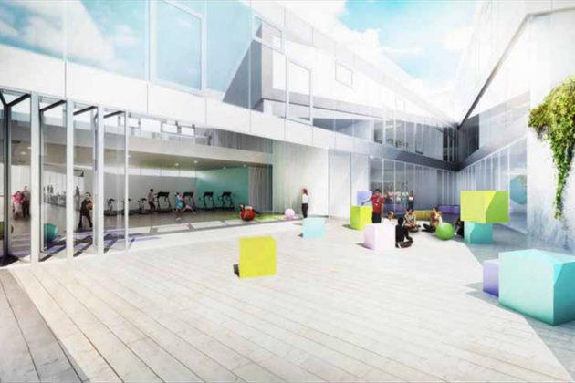 Stratford courtyard rendering (Via APS)