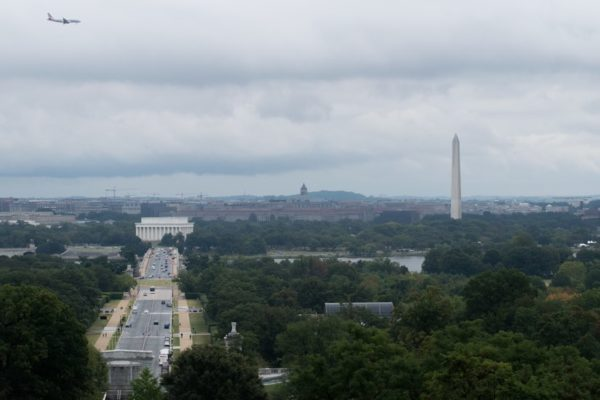 Cloudy view of the District from Arlington House (Flickr pool photo by John Sonderman)