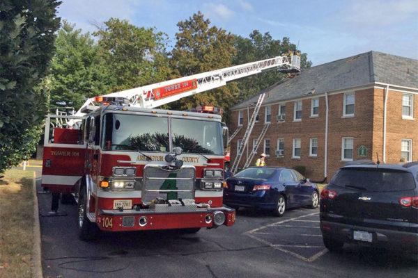 Apartment fire in Penrose (photo via @ACFDPIO)