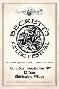 Beckett's Celtic Festival flyer (via Samuel Beckett's)