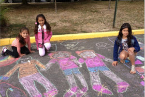 Children at Barcroft's Chalk4Peace (Courtesy of Marel Sitron)