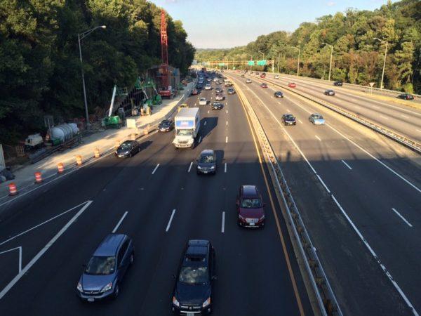 Traffic on I-395