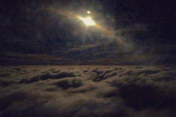 Last night's Super Moon above the clouds, as seen from a flight arriving at DCA