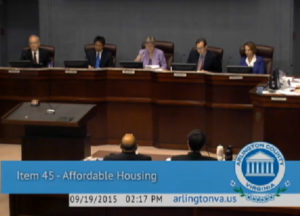 County Board meeting on affordable housing plan