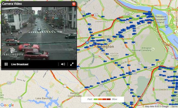 Arlington traffic camera website