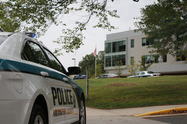 Police officers at Yorktown High School (file photo)