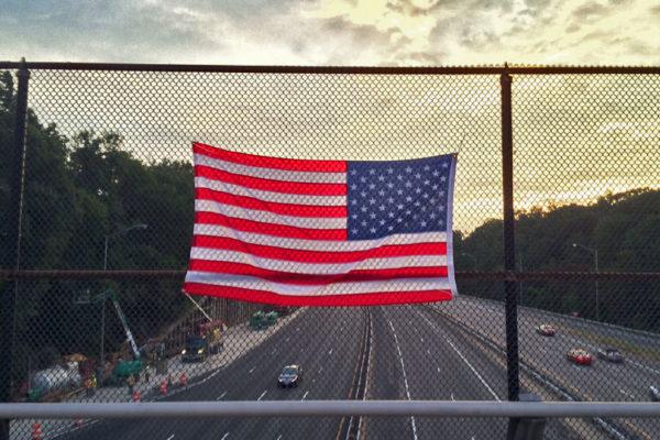 Flag over I-395