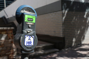 Parking meter on N. Oak Street