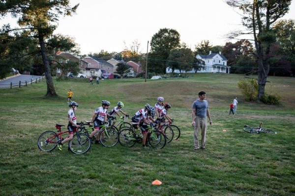 Bike team in Bluemont Park (Flickr pool photo by Dennis Dimick)