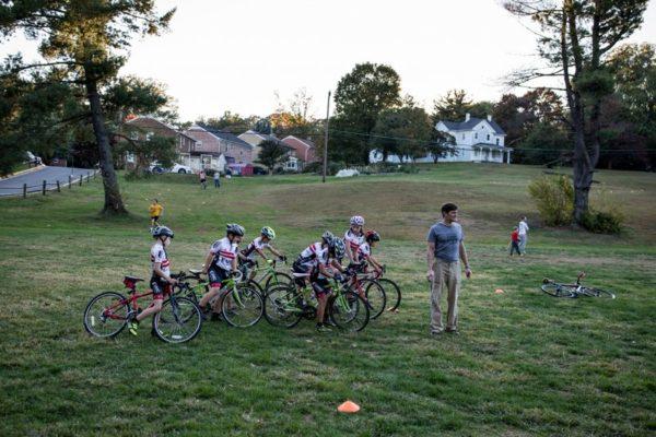 Bike team in Bluemont Park (Flickr pool photo by Dennis Dimick)
