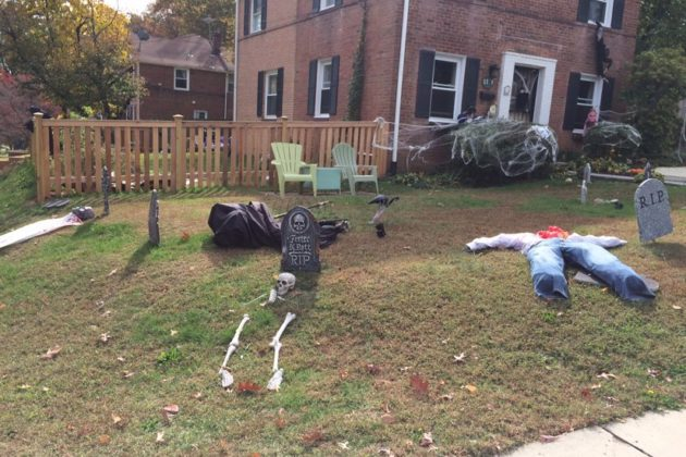 Halloween decoration on S. Frederick Street