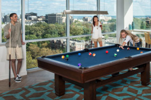 Verde Pointe pool table/billiards room