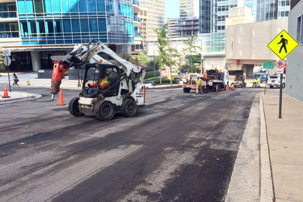 Road construction on Key Blvd