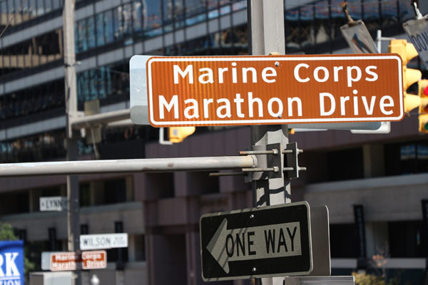 Wilson Blvd has been renamed Marine Corps Marathon Drive in honor of the marathon on Oct. 25, 2015