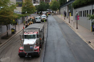 N. Nash Street is closed to traffic due to paving