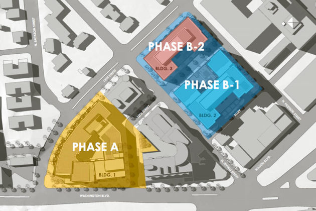 Original phases of the Shooshan/Red Top redevelopment