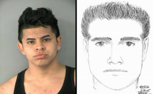 ACPD arrest of sexual assault suspect Melvin Perez-Bonilla (mug shot vs. sketch)